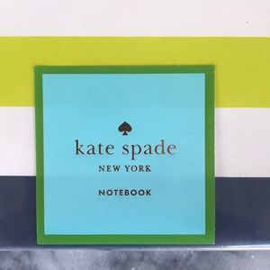 kate spade Office - Colorful striped covered Kate Spade notebook